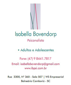:: Ibpsi | Isabella Bovendorp - Psicanalista ::